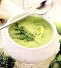 Supa crema de praz cu chimen