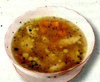 Supa gustoasa cu galuste de ficat