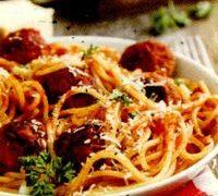 Spaghete cu chiftelute de peste