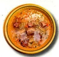 Ciorba de carne cu orez si iaurt