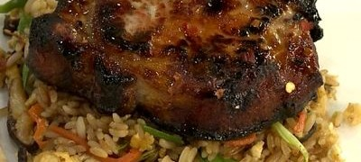 Cum_se_prepara_Porc_cu_ghimbir_si_miere_servit_cu_orez