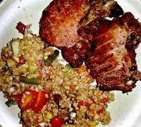 Salata_de_orez_brun_cu_rosii_si_ciuperci