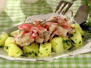 Salata de legume cu scrumbie sarata