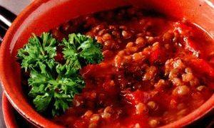 Supa de linte cu spanac si ghimbir
