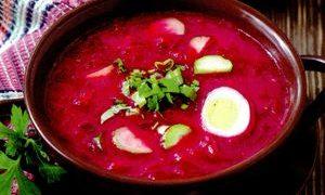 Supa de sfecla cu carne