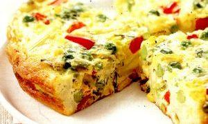 Frittata_cu_branza_mazare_si_broccoli