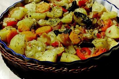 Ghiveci de legume cu vin