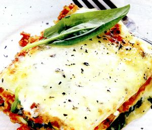 Lasagna cu mozzarella si legume