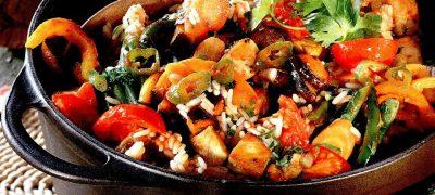 Mancare de legume cu ulei de soia