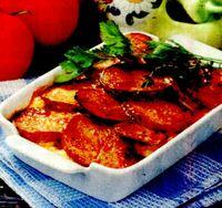 Cartofi cu ciuperci si branza la tigaie