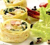 Rulouri cu brânza şi legume