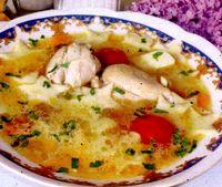 Supa de pui cu lamaie