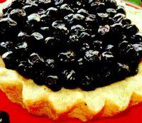 Tartă de afine cu fructe