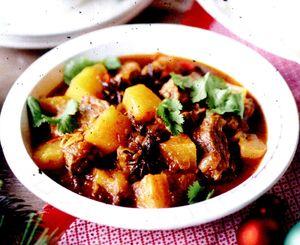 Carne de porc cu ananas si sos de soia