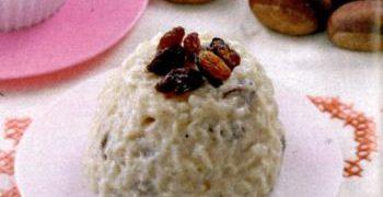 Budinca de orez cu fructe