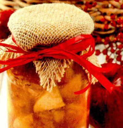 Gem de mere cu sirop concentrat de piersici