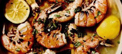 Mancare de creveticu legume