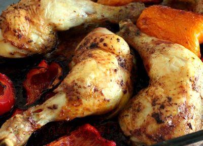 Pulpe de pui cu legume si rozmarin