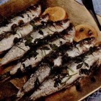 Sardine cu usturoi la cuptor