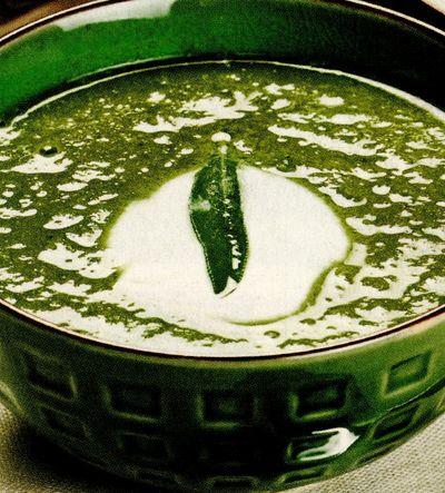 Supă-cremă de mazăre şi creson