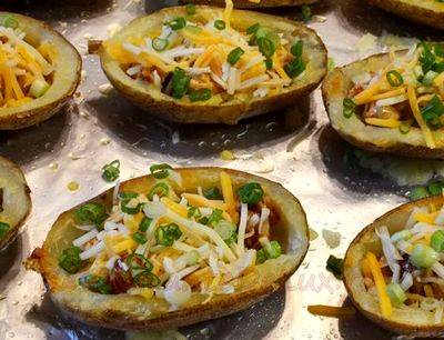 Cartofi umpluţi copţi în coajă