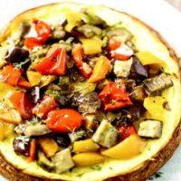 Cheesecake cu legume coapte