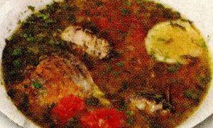 Ciorba de peste cu orez si leustean