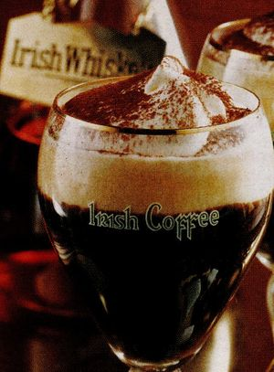 Irish black coffee