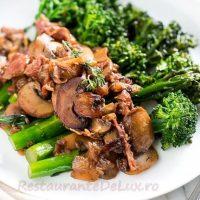 Sote de ciuperci si broccoli