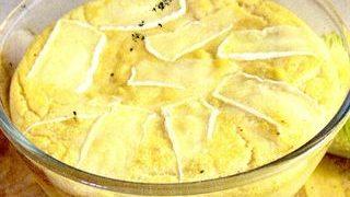 Sufleu de cartofi cu sunca