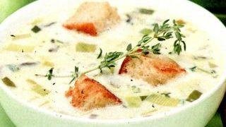 Supa de ciuperci cu praz