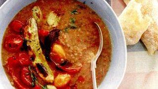 Supa de legume coapte si linte verde