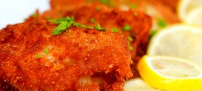 Cod condimentat in crusta de pesmet
