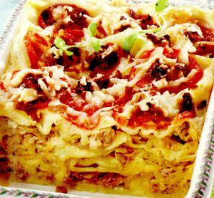 Lasagna cu varză si bacon