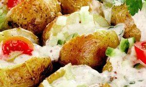 Cartofi umpluti cu orez si ciuperci