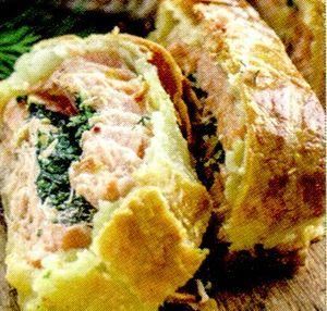Rulada de carne cu spanac