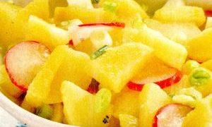 Salata de cartofi cu ridichii si branza