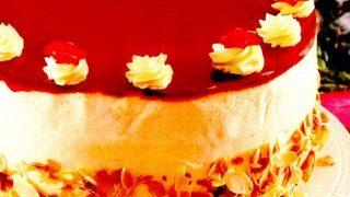 Tort cu branza si zmeura
