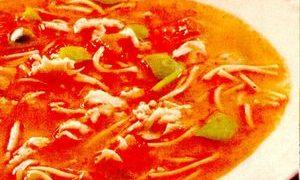 Ciorba de legume cu suc de rosii
