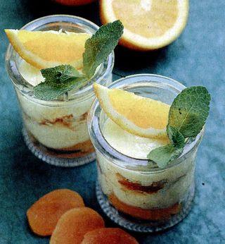 Crema cu portocale si caise