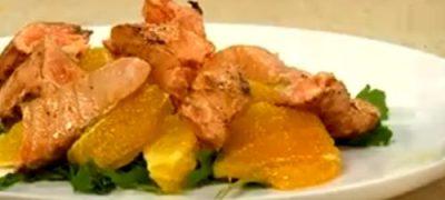Cum se prepara Somon cu portocale
