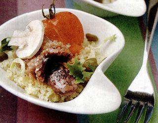 Cuscus cu legume si caracatita