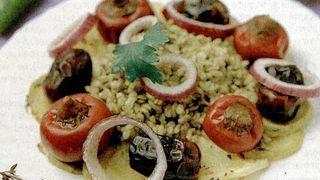 Grau copt cu pui si legume