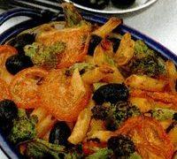 Paste la cuptor cu broccoli si rosii