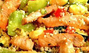 Salata cu cuscus si sparanghel