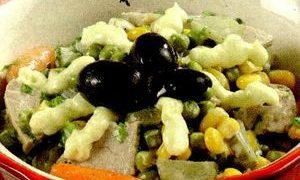 Salata cu limba si maioneza