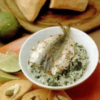 Sardine cu orez si spanac