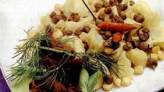Tortellini cu carne si legume