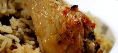 Chicken with basil rice