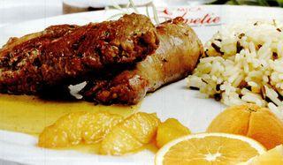 Muschiulet de miel cu sos de portocale